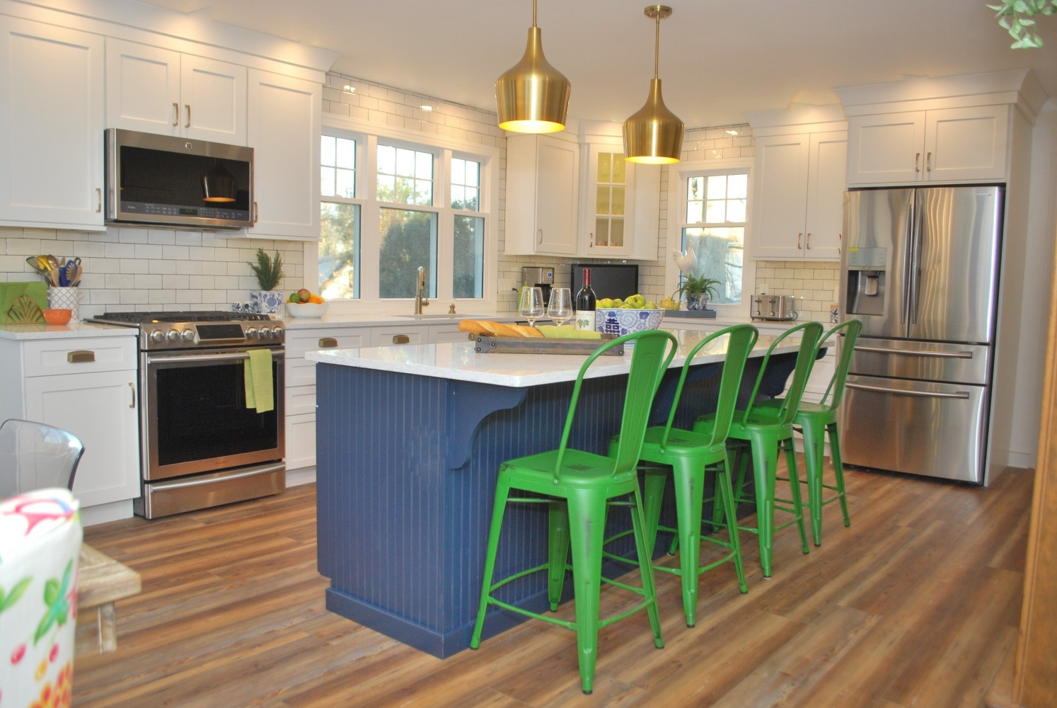 Navy White Kitchen Marlton Nj Distinctive Interior Designs