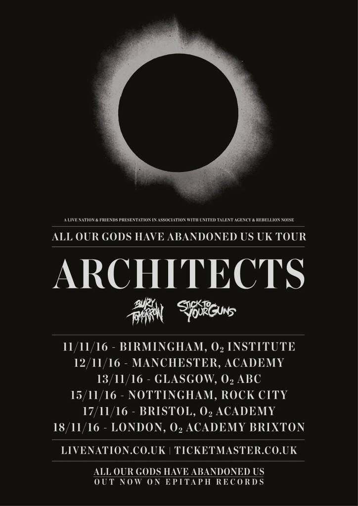 Architects UK Tour Poster 2016
