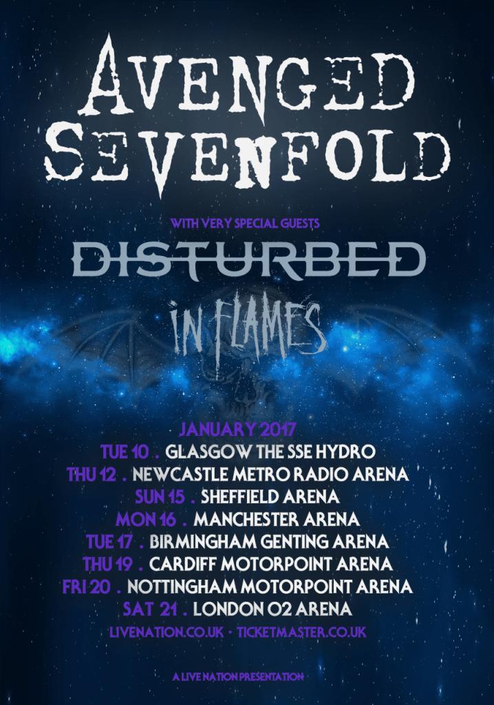 Avenged Sevenfold UK tour 2017