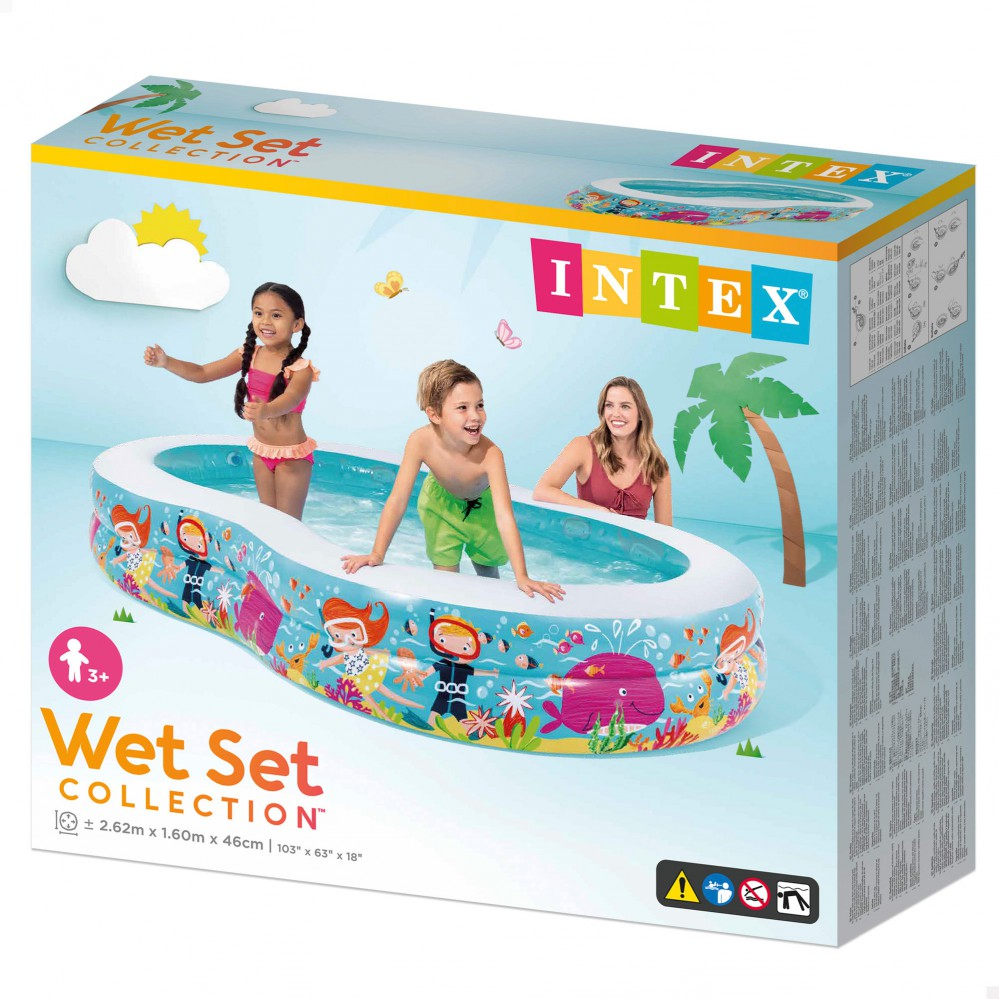 Piscina Intex Niños Piscina Hinchable Intex Rectangular 262 X 160 X 46 Cm 640 L