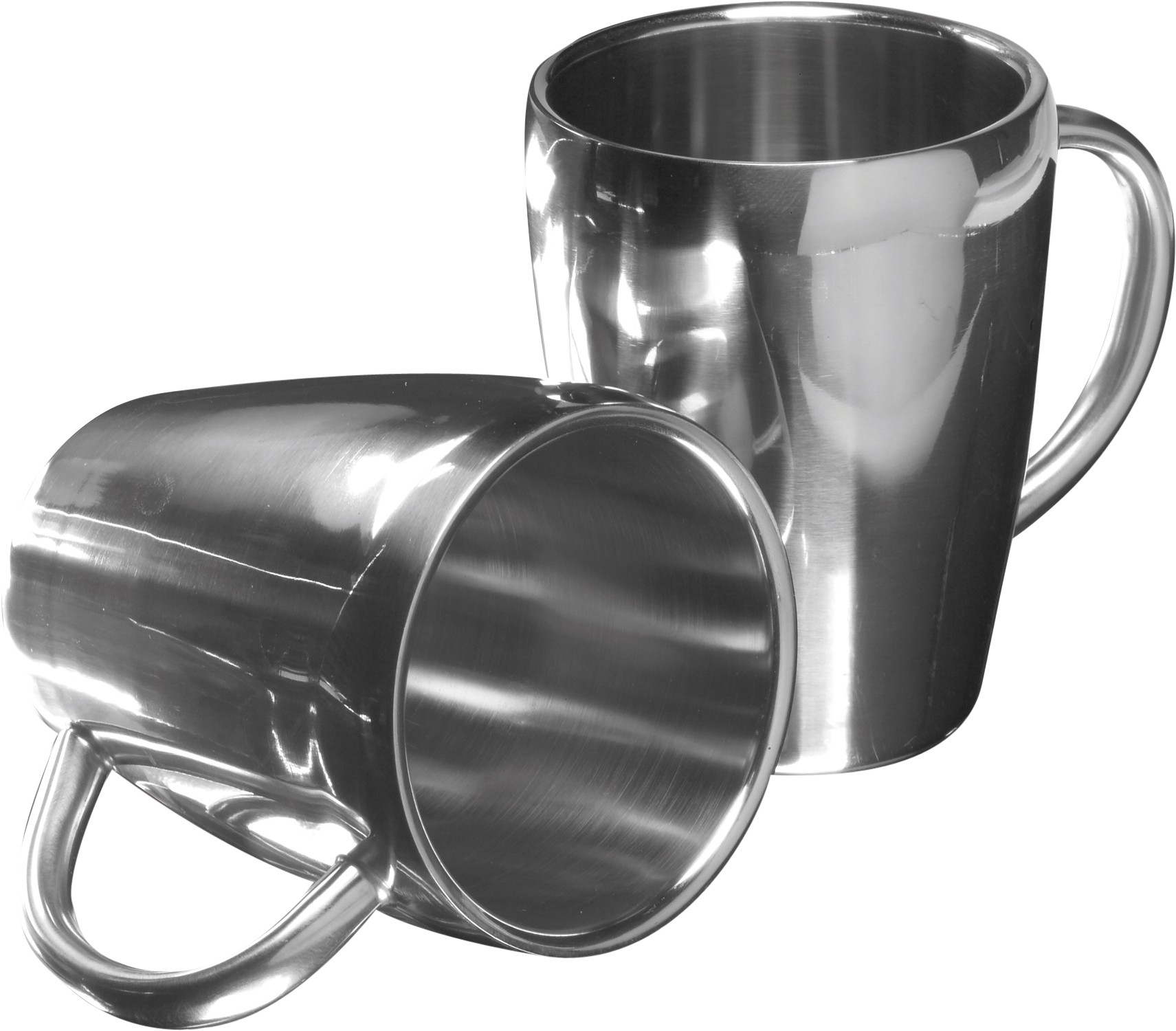 Metalen Mok Set Of Two Steel Mugs Silver Reklámajándék Hu Ltd