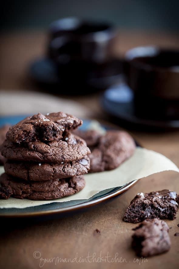 Paleo Creme de Menthe Chocolate Chip Cookies