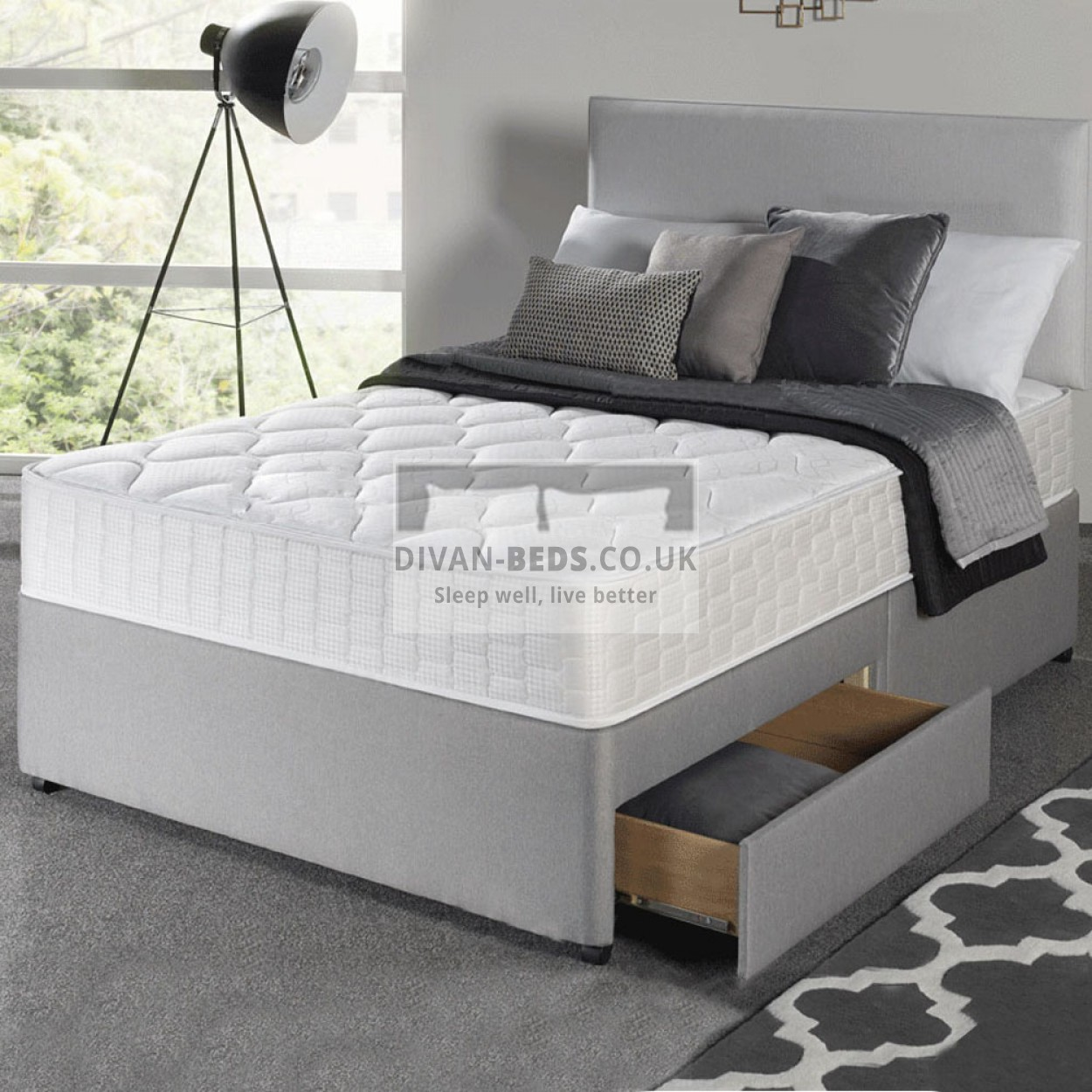 Divan Beds Cheap Richard Divan Bed With Spring Memory Foam Mattress Guaranteed
