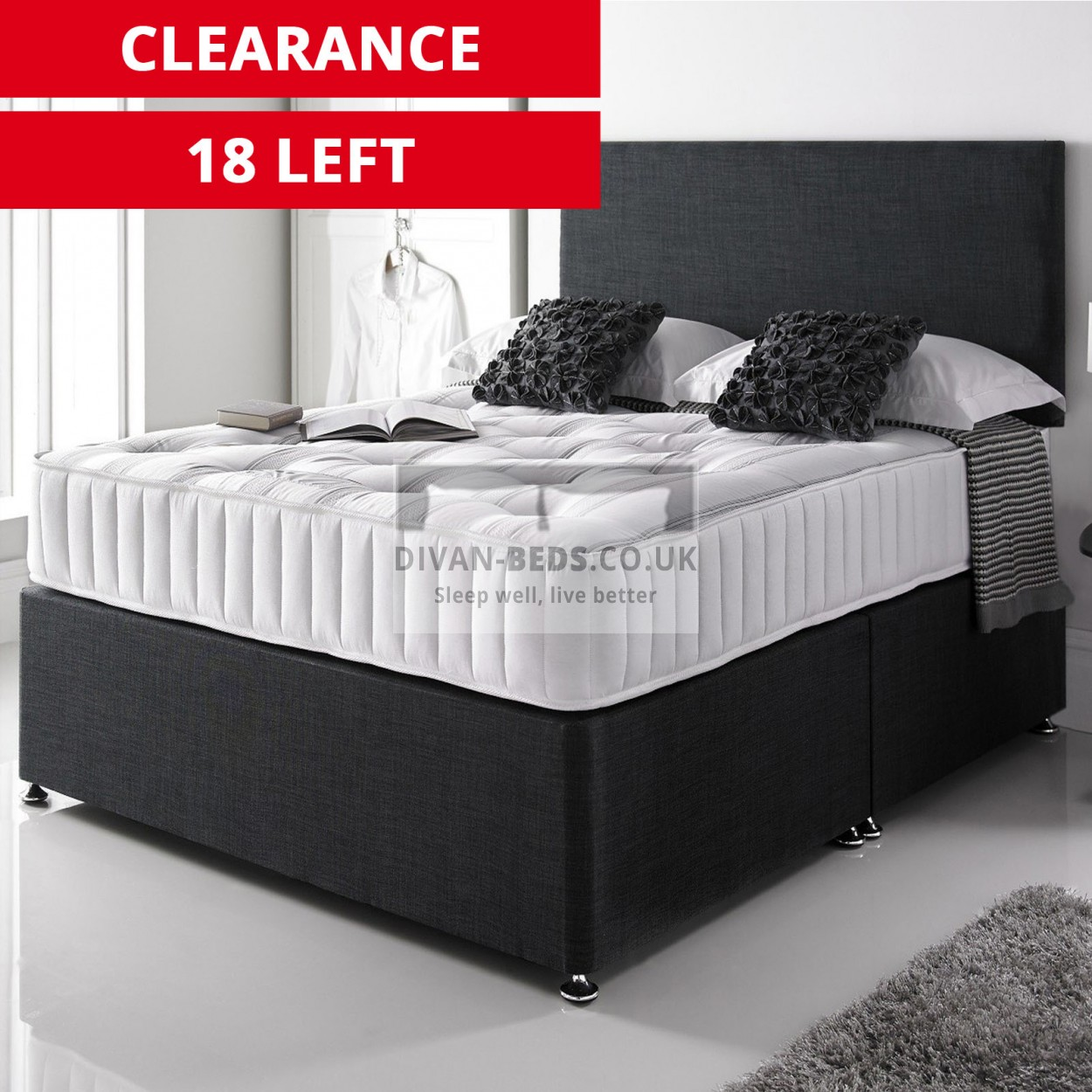 Divan Bed And Mattress Deals Giles Divan Bed With 3000 Pocket Spring Memory Foam Mattress