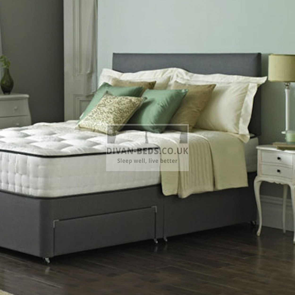 Royal Memory Divan Bed Set With High Density Open Spring