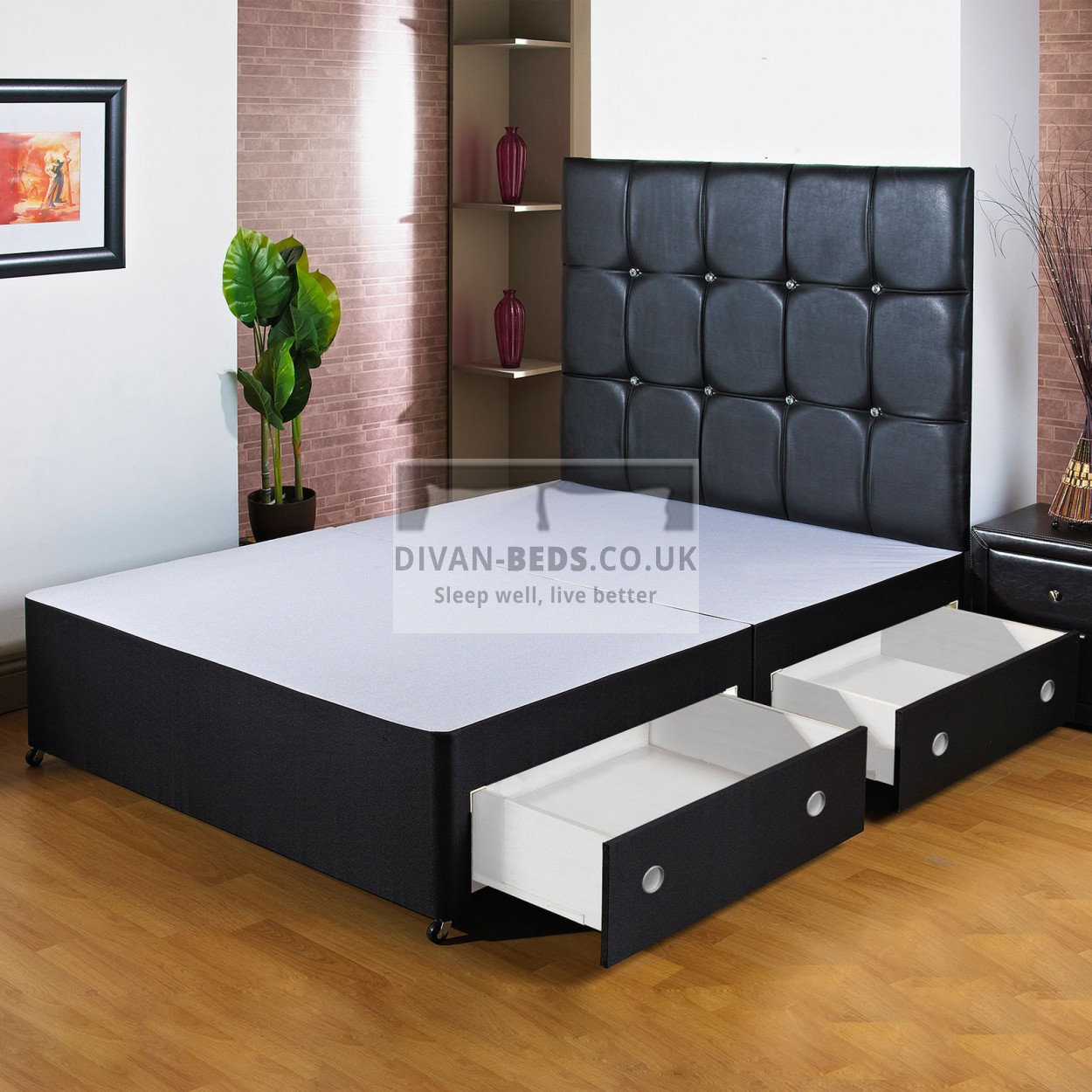 Divan Beds Cheap York Black Divan Bed Base With Headboard Options Guaranteed