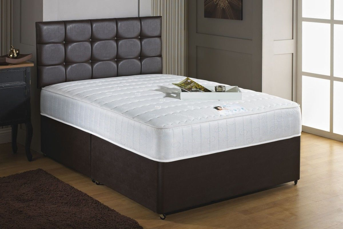 Double Divan Beds Savoy 4ft 6in 1000 Pocket Sprung Memory Foam Double Divan Bed Inc Headboard