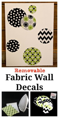 DIY Fabric Wall Decals | Diva of DIY