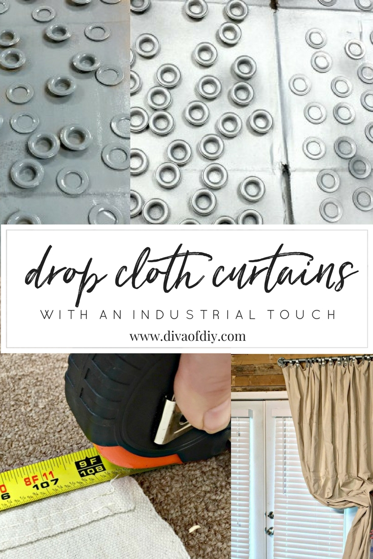 How To Make Diy Curtains Out Of Drop Cloths Diva Of Diy