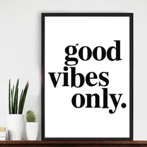 Positive Vibes Only Modern Canvas