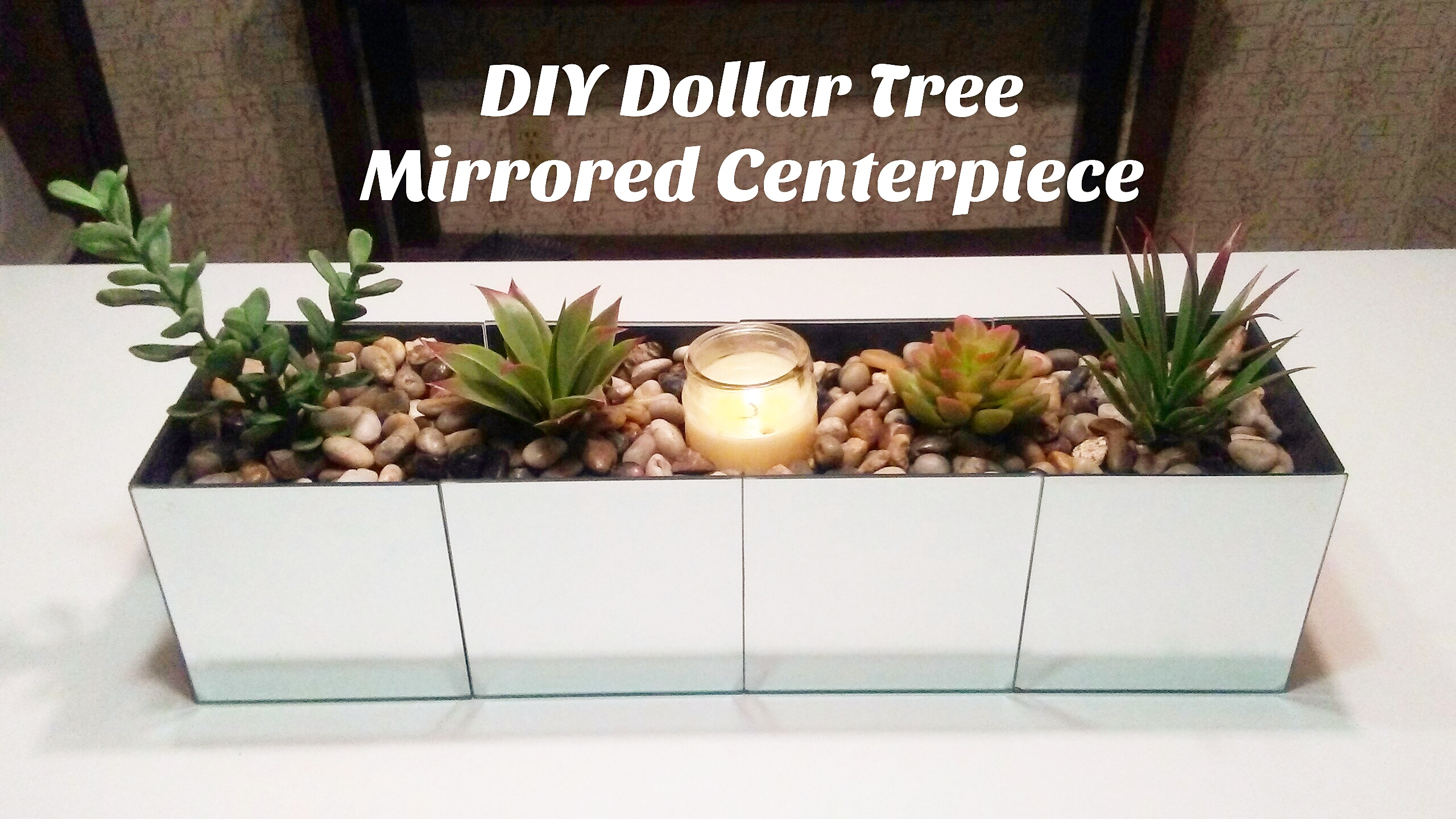 diy dollar tree mirrored centerpiece