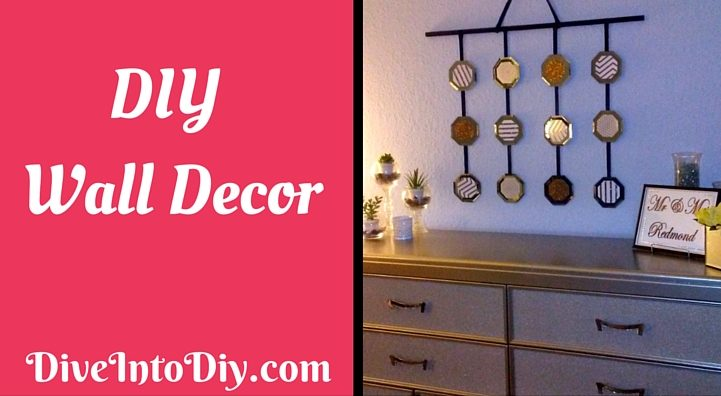diy dollar tree mirror wall art decor craft 49