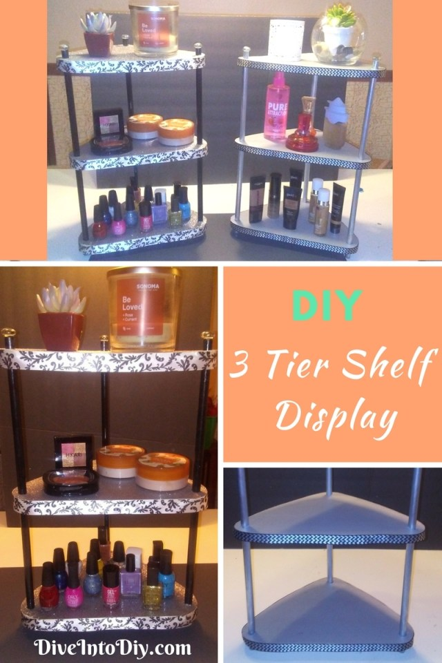 DIY 3 tier display shelf craft project dollar tree (61)