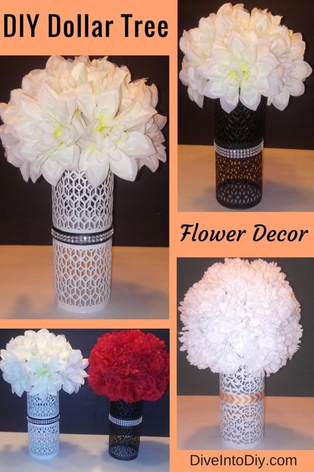 diy dollar tree flower decor arrangement centerpiece wedding craft project