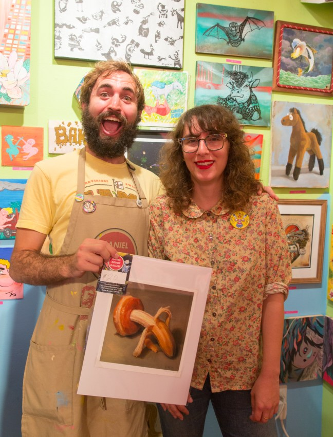 Rolnik with Catherine Kaleel and her romantic donuts