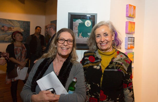 Author with Susan Melly, right