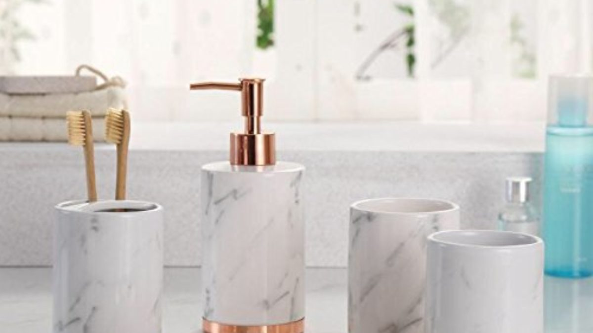 7 Amazon S Best White Marble Bathroom Accessories To Buy
