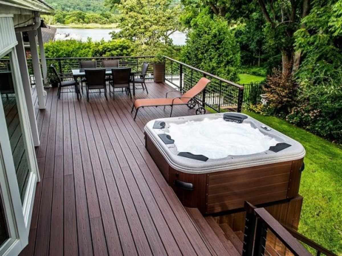 20 Most Beautiful Deck Hot Tub Ideas For Joyful Backyard