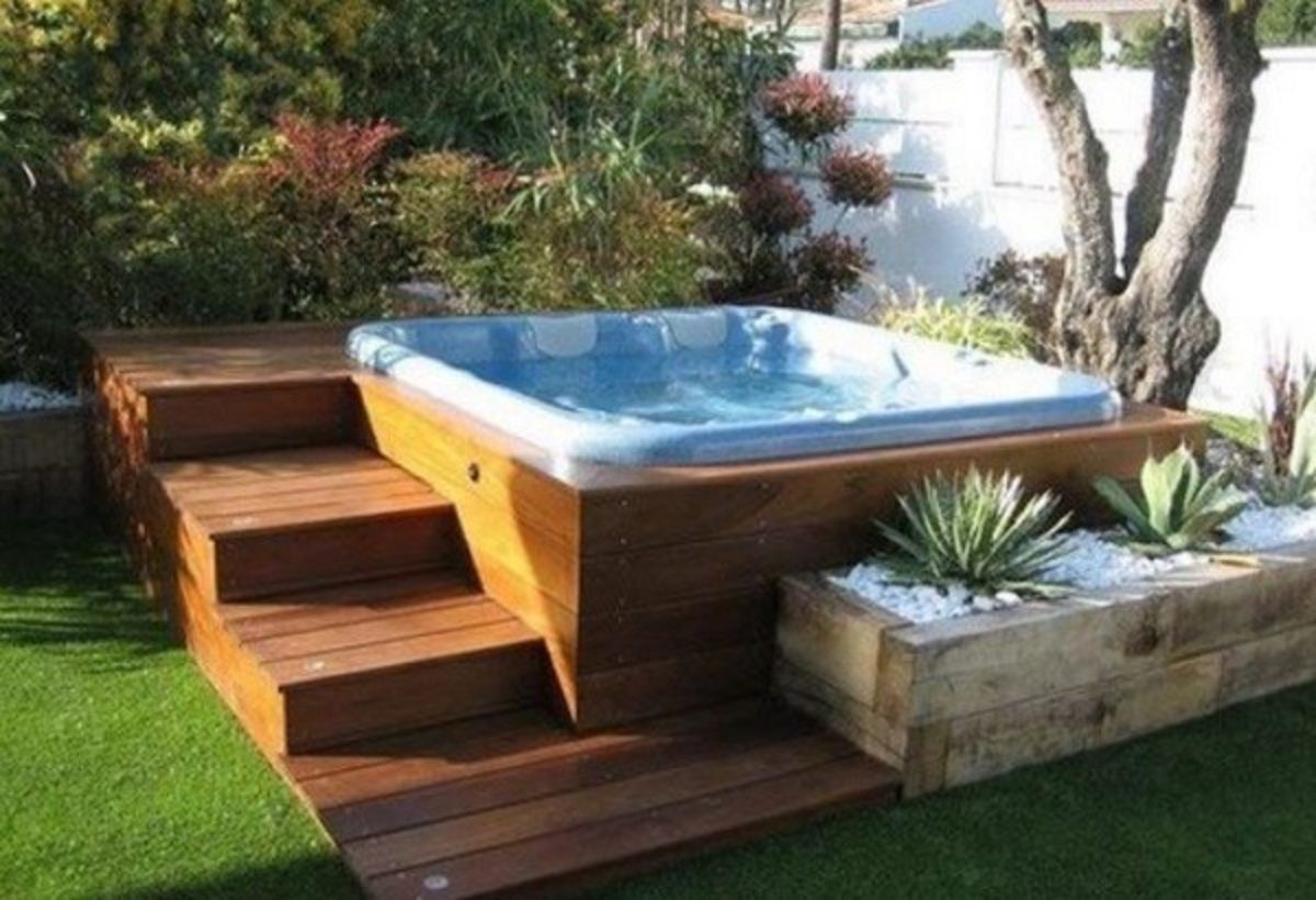 Hot Tub Base 18 Easy Diy Ideas For An Astonishing Backyard