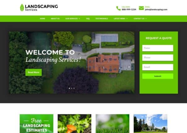 Landscaping Theme (Travel  Outdoors Divi Child Theme Example