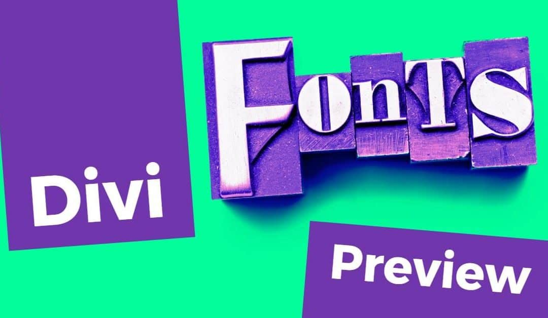 17 Best Divi Fonts and Combinations (with Previews) Divi Gallery