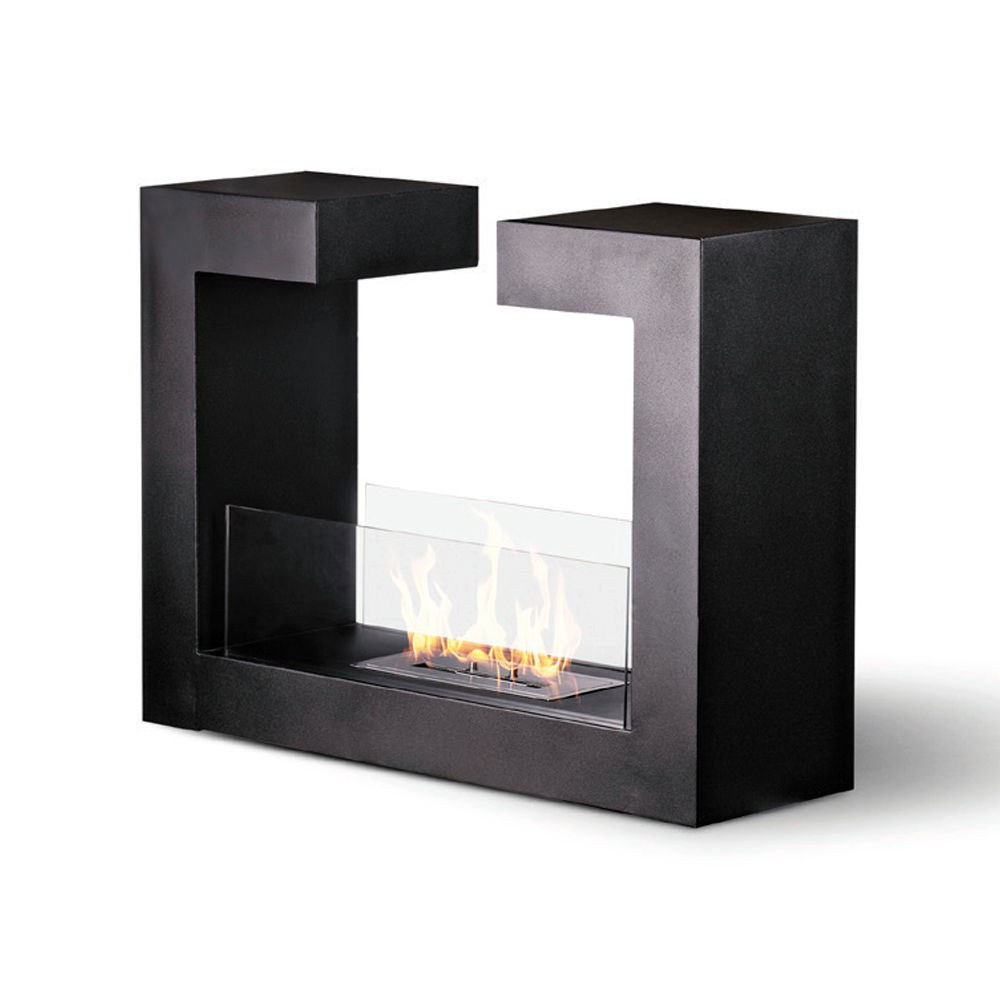 Caminetto Elettrico Brico Biocamino Inox Boston Divina Fire