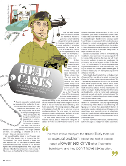 Head Cases: Soldiers' Side Effects - Magazine Spread