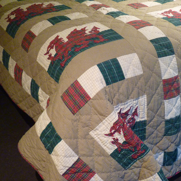 Divan Beds Welsh Dragon Patchwork Quilt