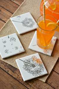 Easy DIY Tile Coasters Gift Girls Night in Craft Divine ...