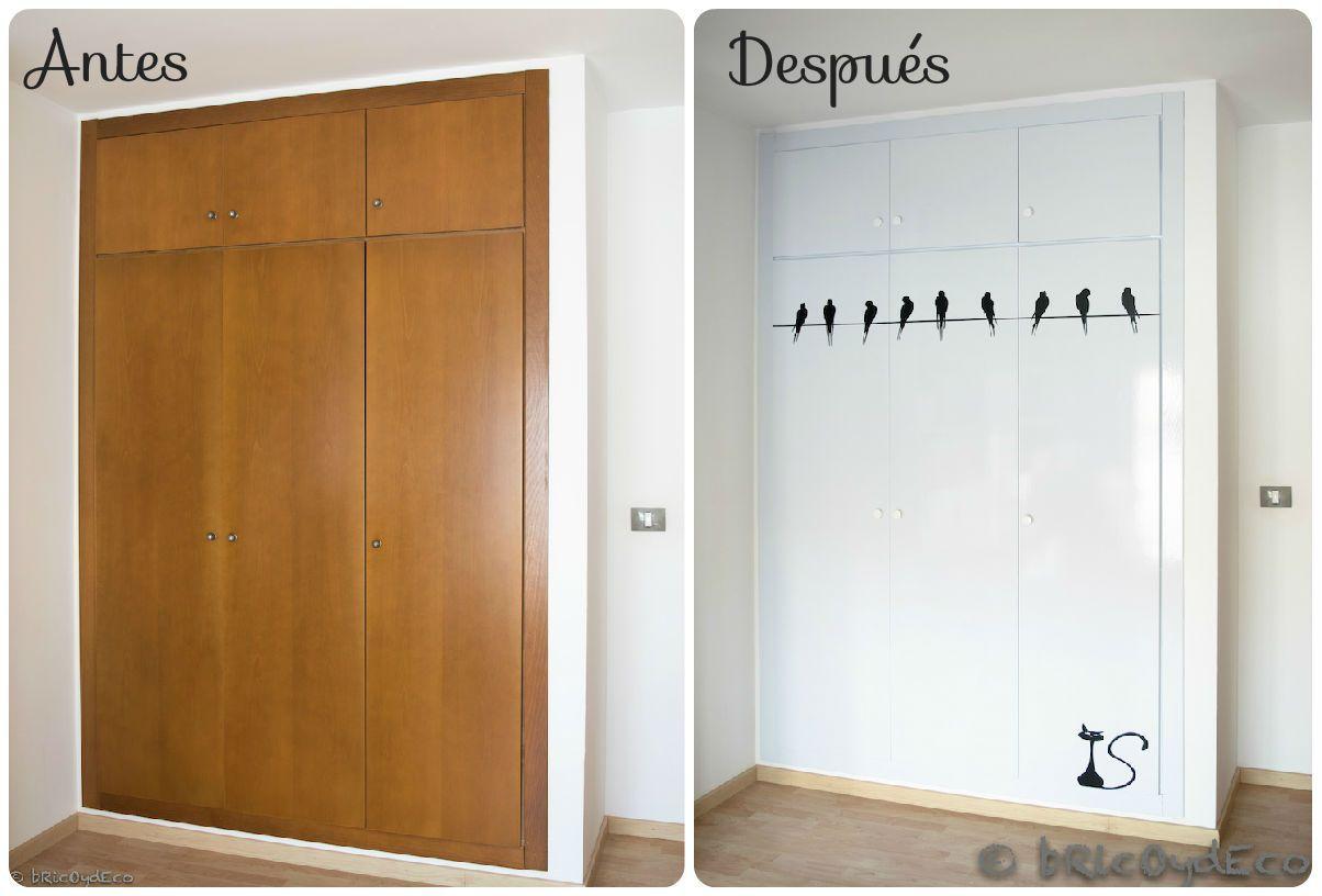 5 ideas para forrar con vinilo las puertas de tus armarios - Puertas con vinilo ...