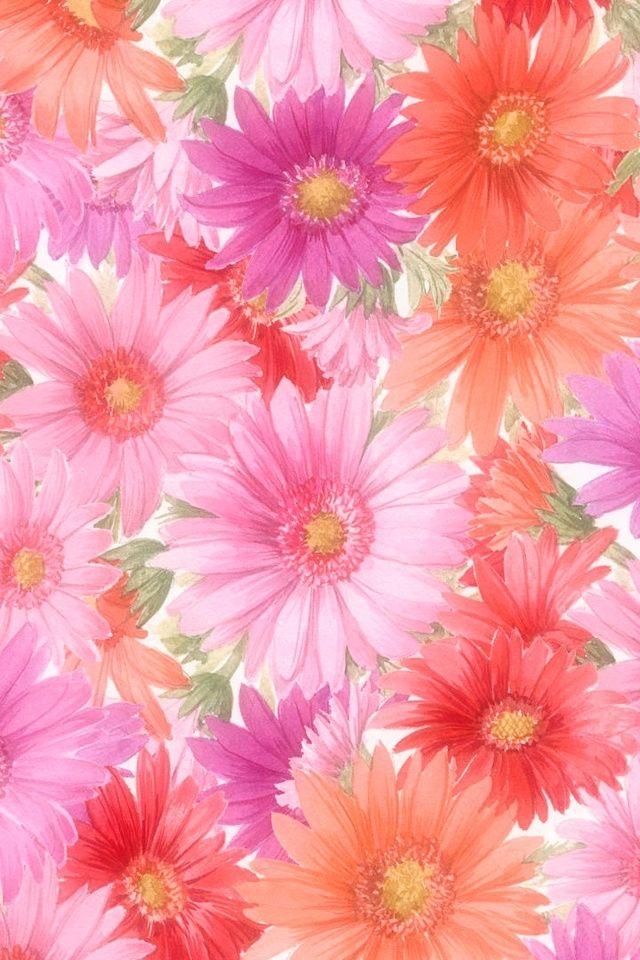 Girly Iphone 7 Wallpaper 華やかな花 Iphone壁紙ギャラリー