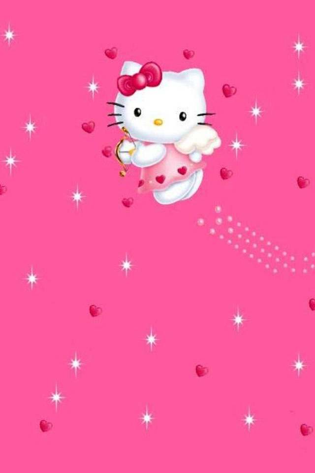 Cute Hello Kitty Wallpapers For Iphone ハローキティ(天使ver) Iphone壁紙ギャラリー