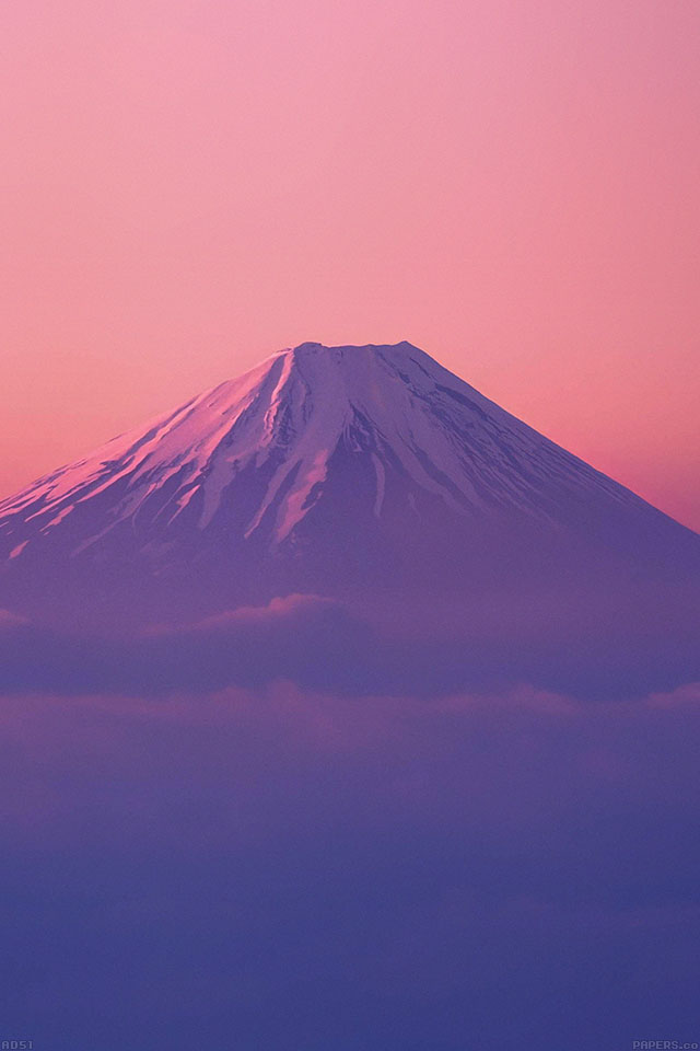 Vaporwave Iphone Wallpaper 夕焼けの富士山 Iphone壁紙ギャラリー