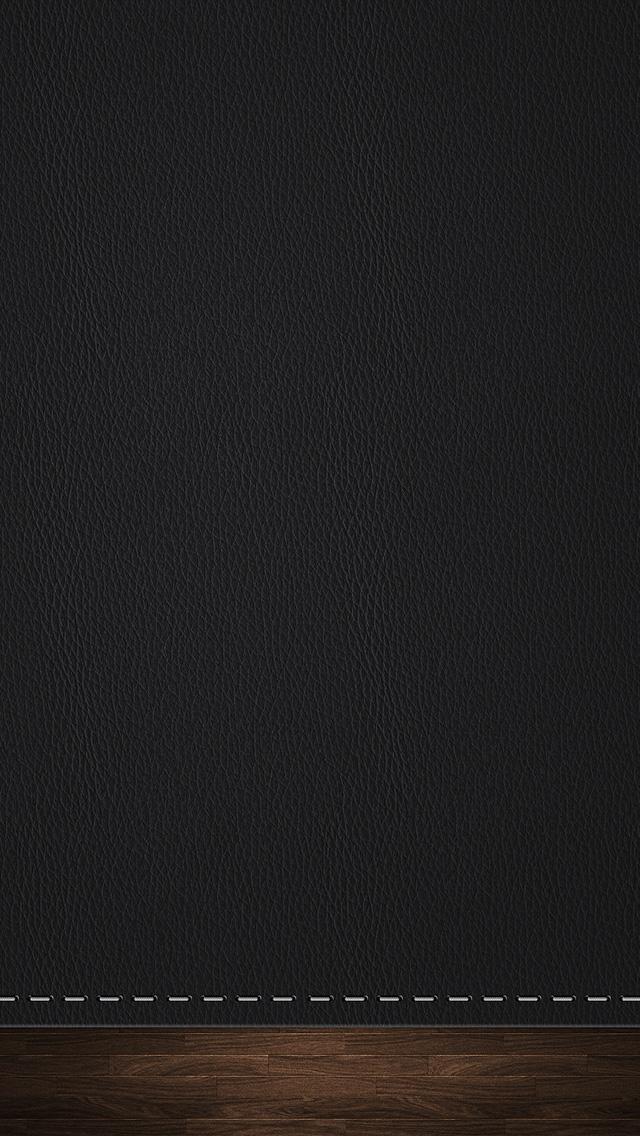 Apple 3d Wallpaper For Iphone 5 黒のレザー調のiphone5 スマホ用壁紙 Wallpaperbox スマホ壁紙 Iphone待受画像ギャラリー
