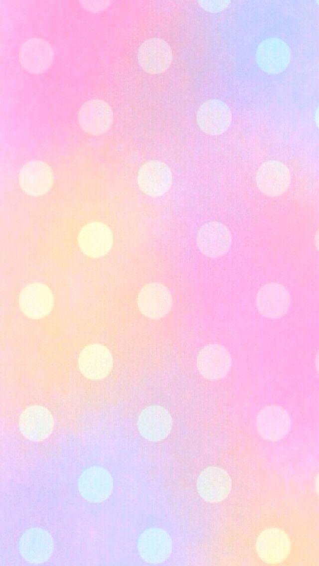 Cute Trendy Wallpapers かわいいパステルカラーの水玉 スマホ壁紙 Iphone待受画像ギャラリー