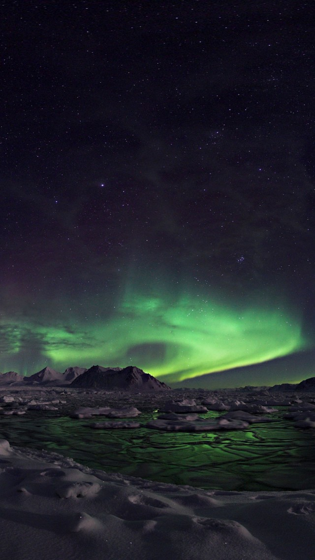 Cute Lock Screen Wallpaper Android The Northern Lights Hd Iphone Wallpapers 640x1136px