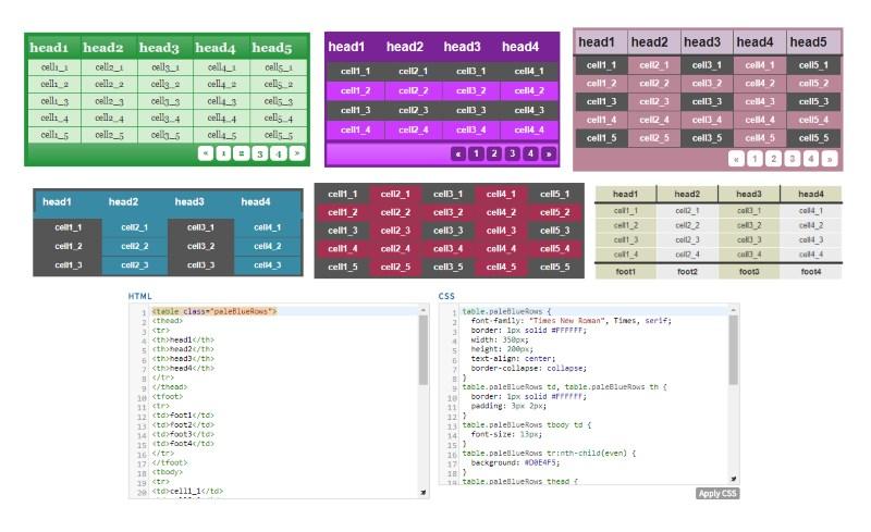 HTML Table Styler 📅 CSS Generator