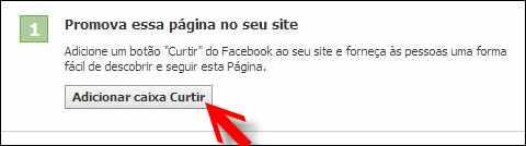 fan page fas pagina fa facebook caixa curtir