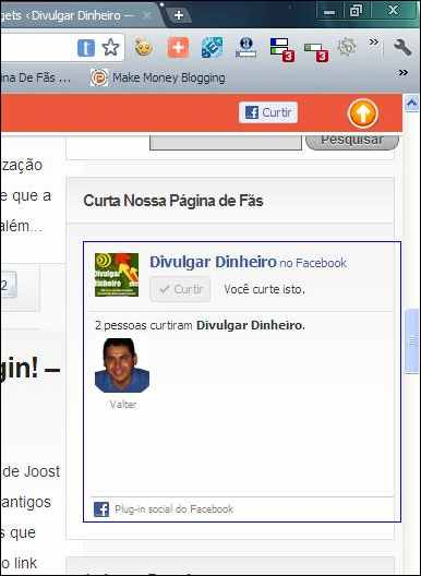 fan page fas pagina fa facebook like box sidebar