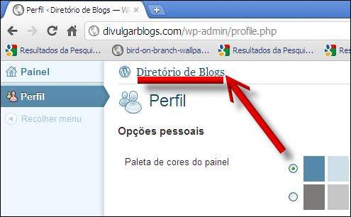 link home page divulgar blogs