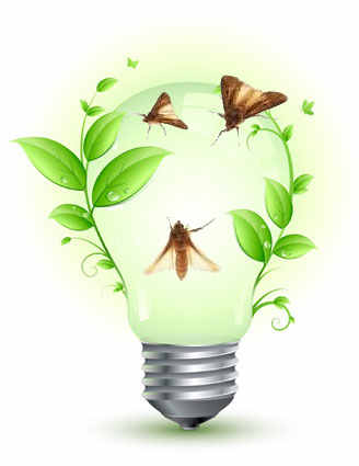 lampada verde ecologia maripos inbound marketing atracao