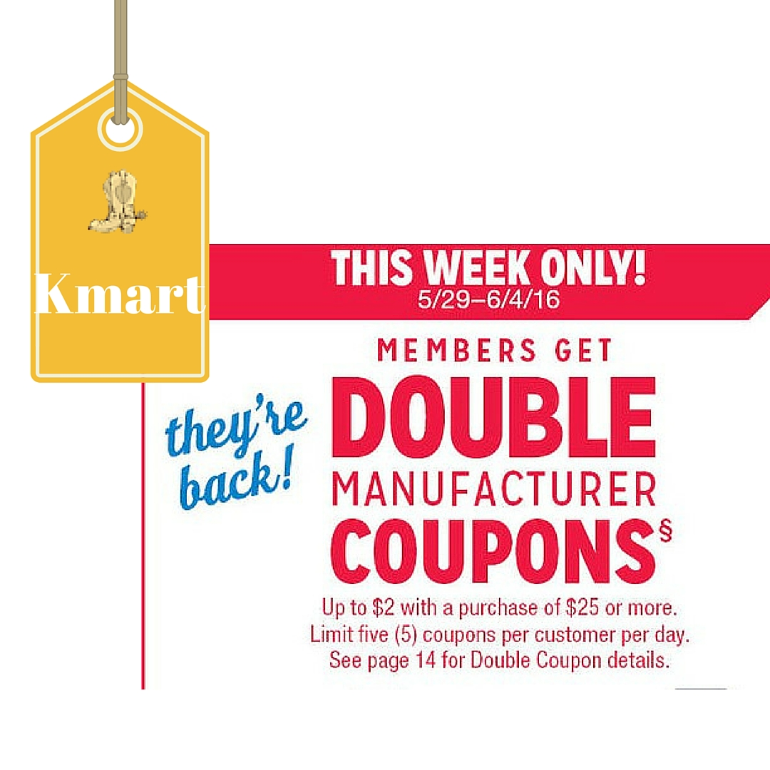 Kmart Coupons Kmart Super Double Coupons 5 29 6 4 2 Coupons Double To 4
