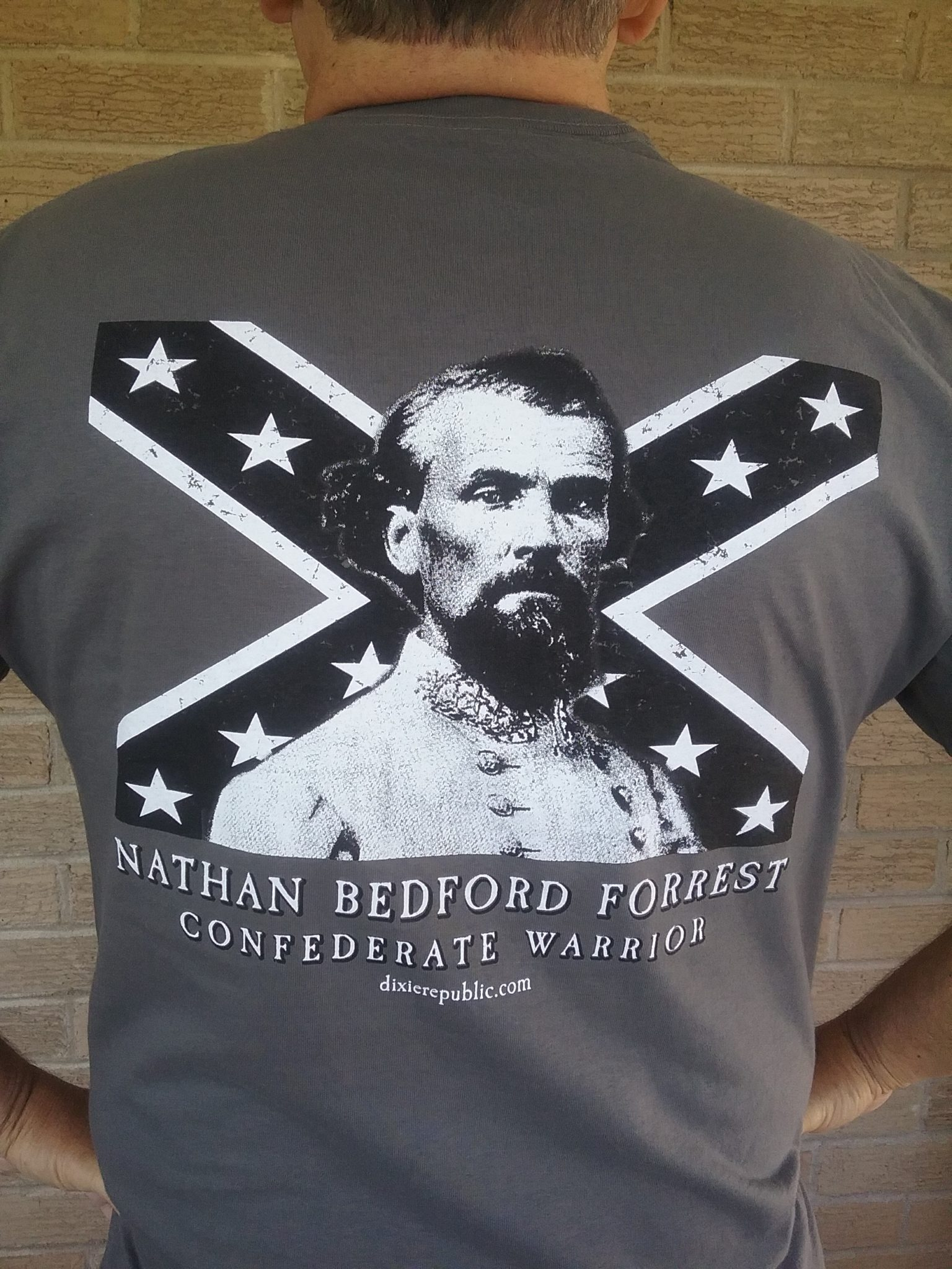 Charcoal Grey Nathan Bedford Forrest, Confederate Warrior Tee