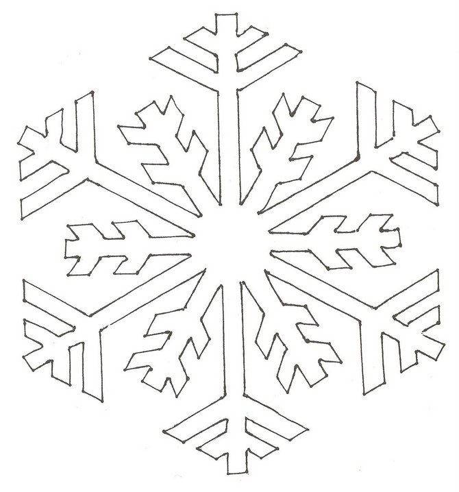 snowflake stencil template