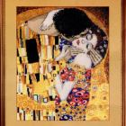 "Free Cross Stitch Pattern G.Klimt ""The kiss"""