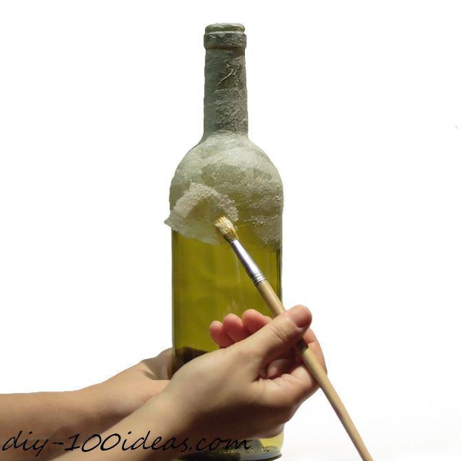 diy wine bottle decor diy 100 ideas. Black Bedroom Furniture Sets. Home Design Ideas