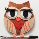 Valentine's Day Owl Magnet
