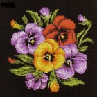 Cross stitch pattern Pansies