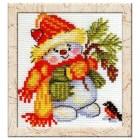 Free Cross Stitch Pattern Snowman