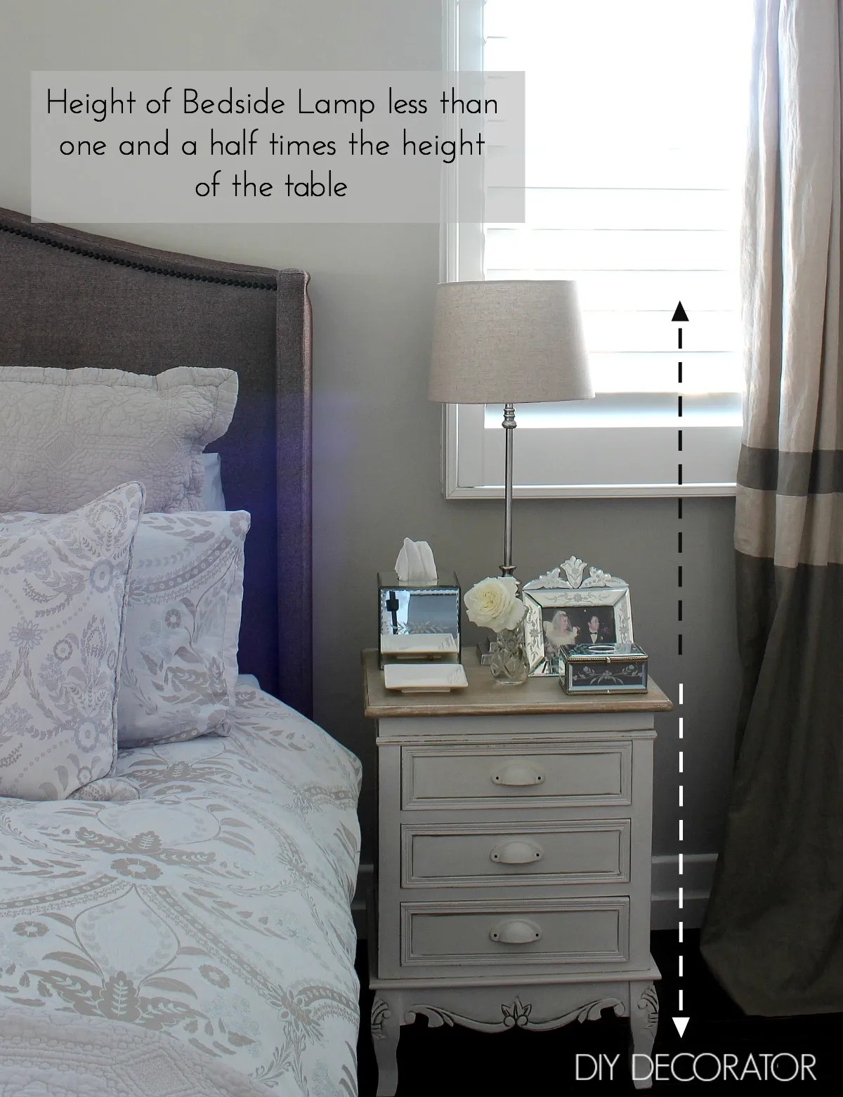 Tall Bedside Lamps What Is The Right Bedside Lamp Height Diy Decorator